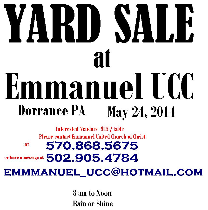 Dorrance, PA Yard Sale