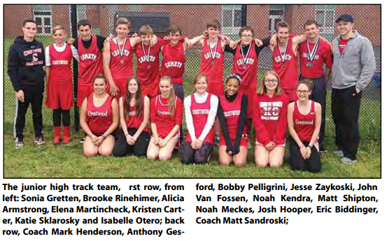 Junior High Comets participates in 5th annual Berwick Track Invitational