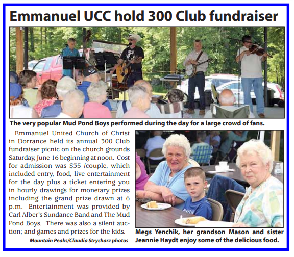 Emmanuel UCC hold 300 Club fundraiser