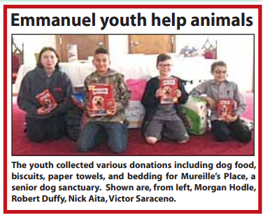Emmanuel youth help animals