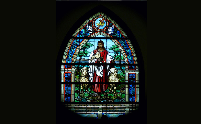 Emmanuel stained glass