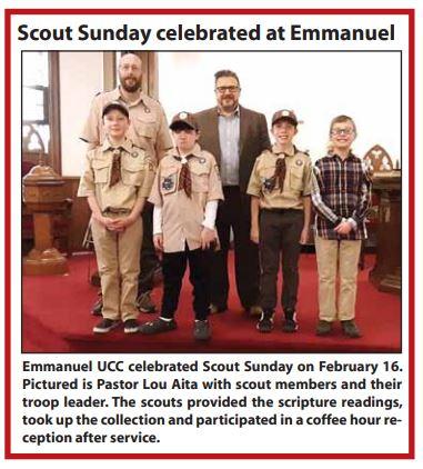 Scout Sunday February 16, 2020